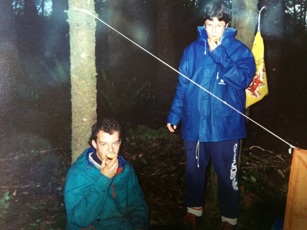 Theron & Sherie, looking tired, West Coast Trail, 1990