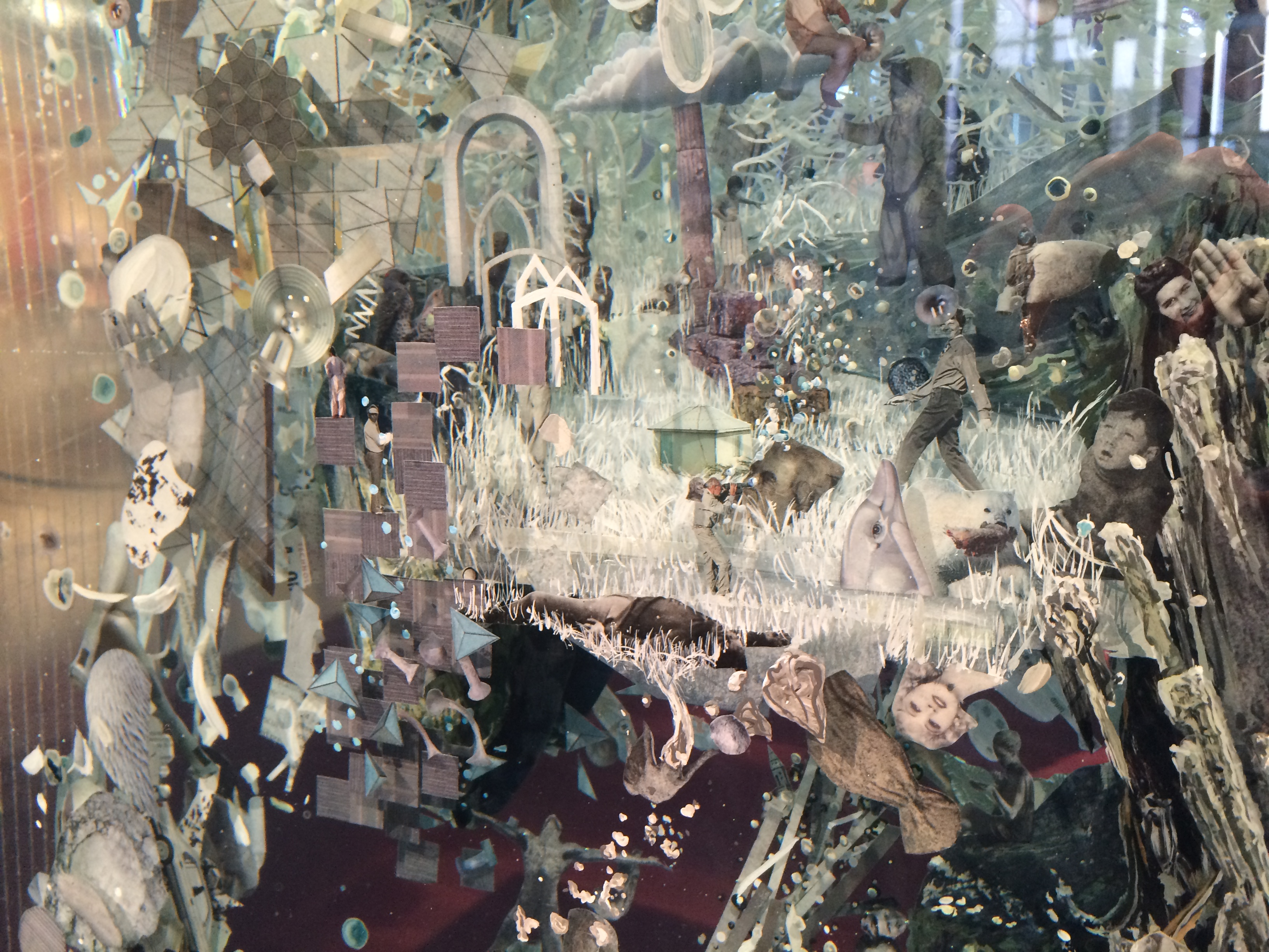 Psychogeographies by Dustin Yellin at Kennedy Center