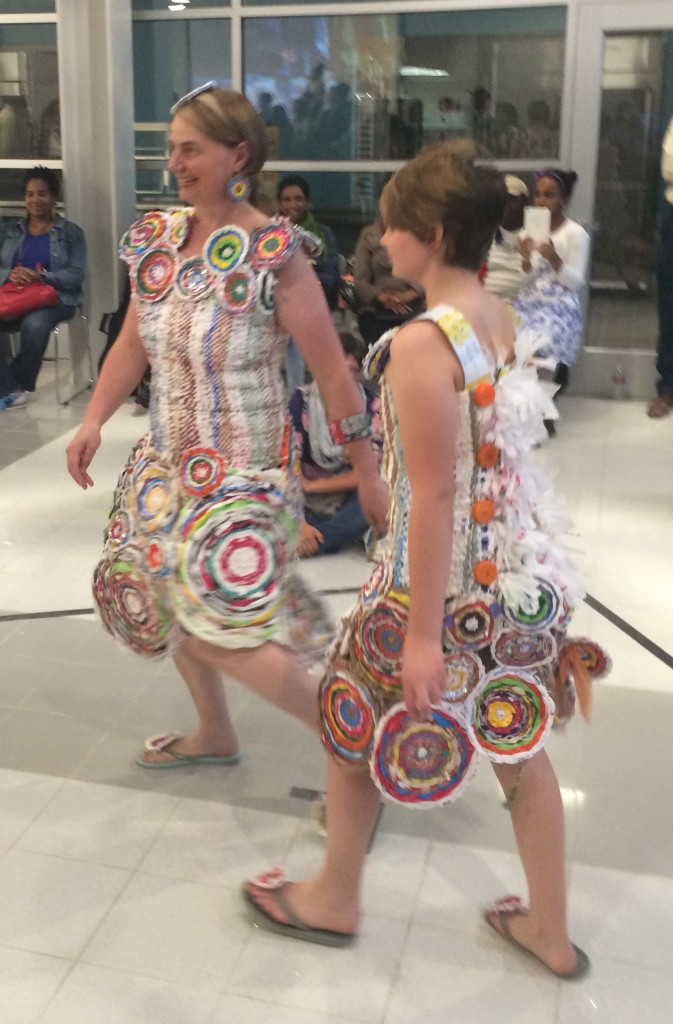 Carla & Nora on the runway at Trashion Fashion DC