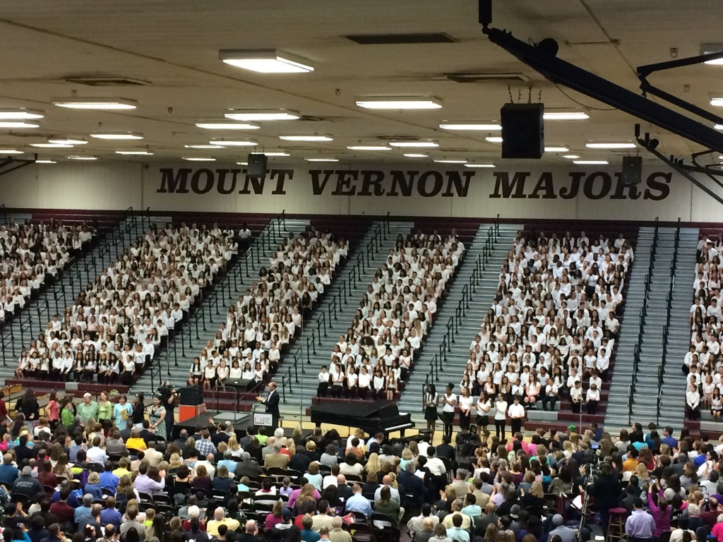 All-County Sixth Grade Choral Festival in April 2015