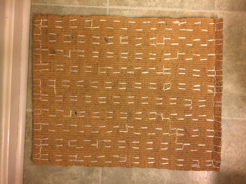 Underside of the wine cork mat