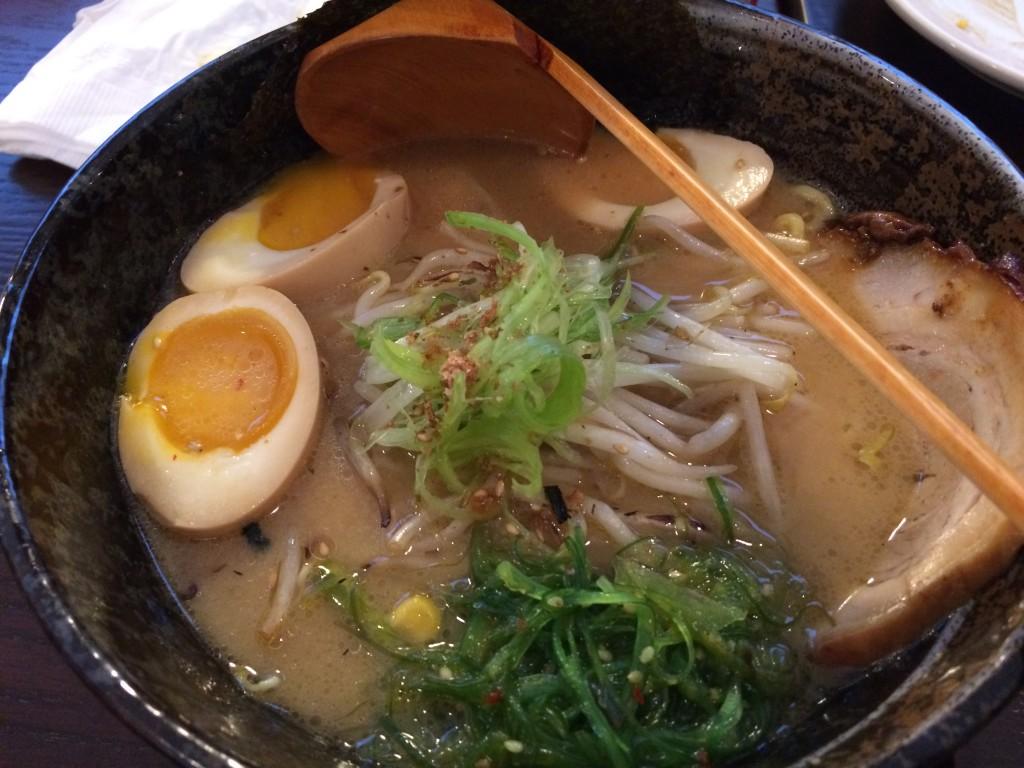 Miso ramen at Marumen restaurant in Fairfax