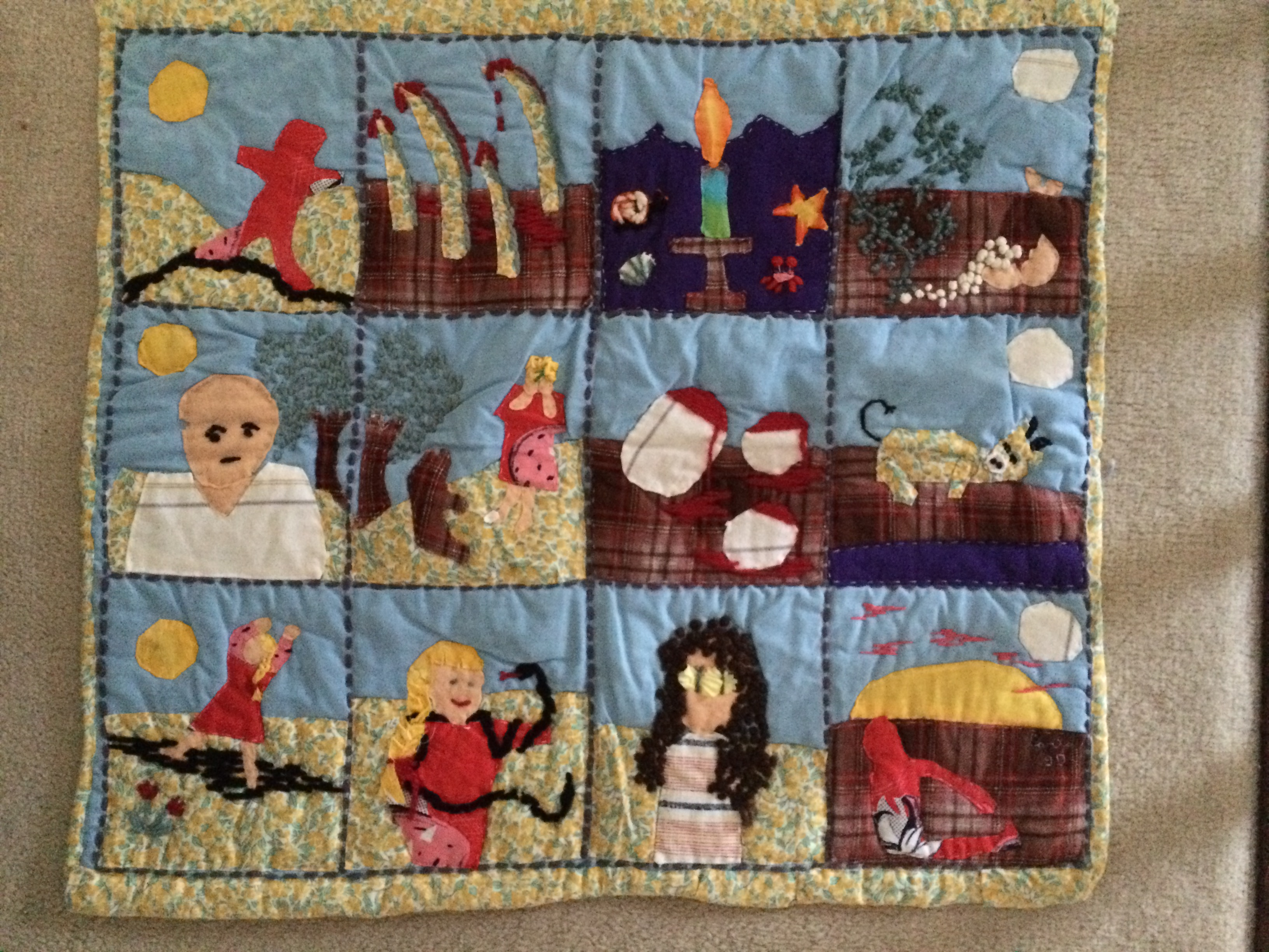 "Quilt for ""When I Was Walking"""