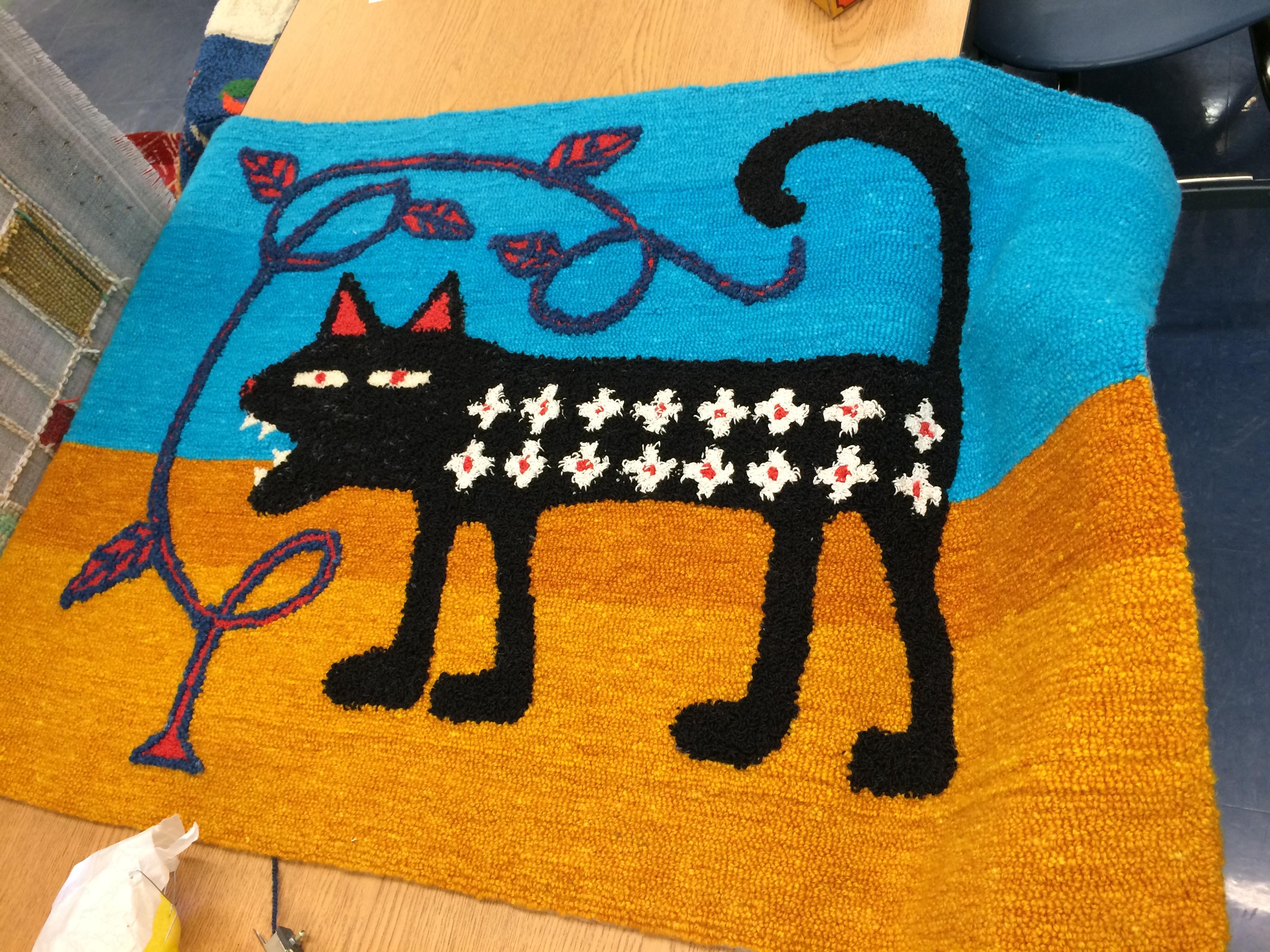 One of Michael Heilman's fantasy animal rugs