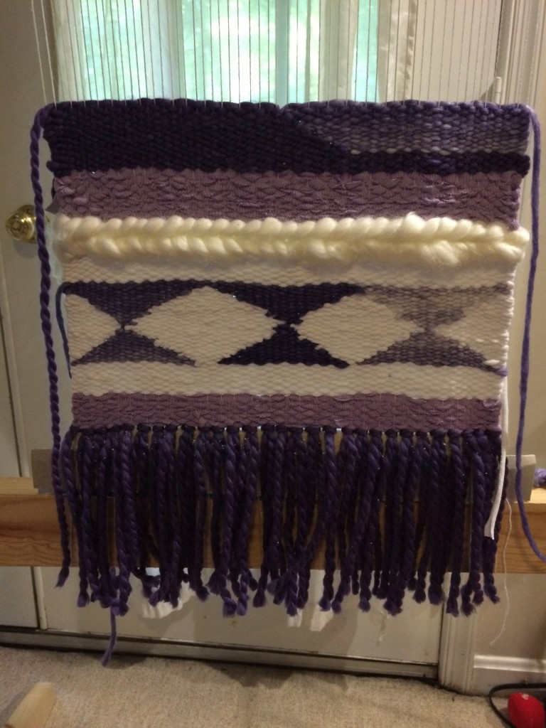 Purple weaving