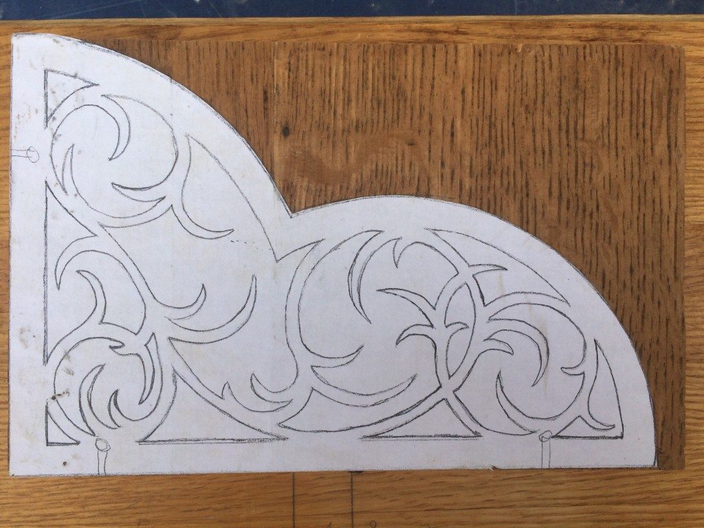 "Pattern on wood - designed by Isaiah ""Nokey"" Fraser"