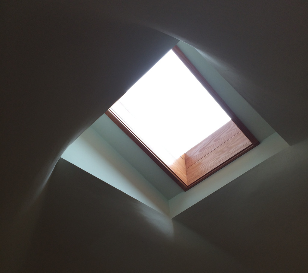 Window in the ceiling - Solar Home Tour