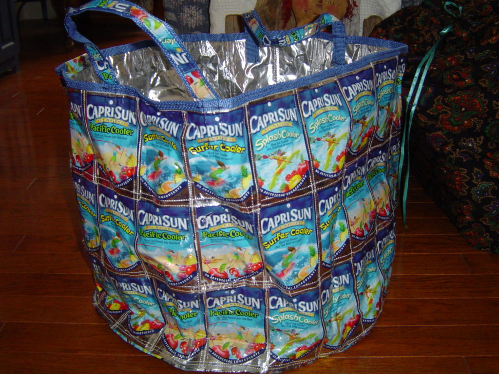 Toy Box sewn from Juice Pouches, 2005