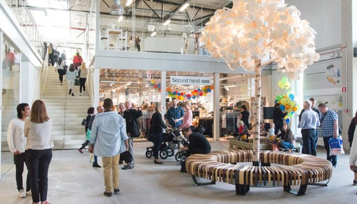 ReTuna Återbruksgalleria, a creative reuse mall in Eskilstuna, Sweden