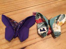 Butterflies made from neck ties