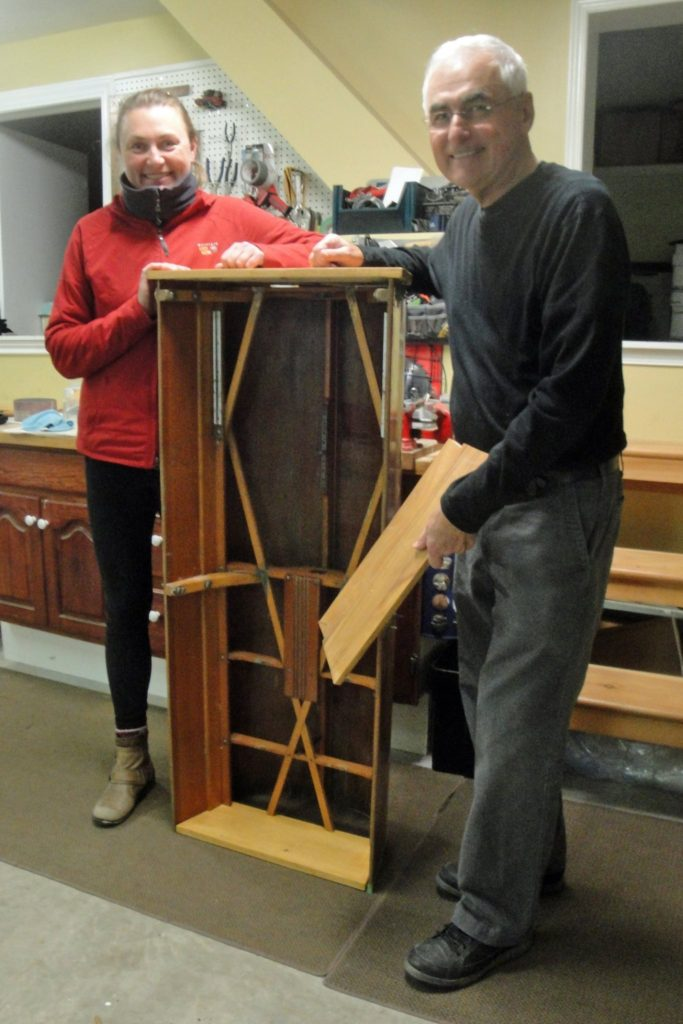 Making a Book Shelf from a Rowing Shell