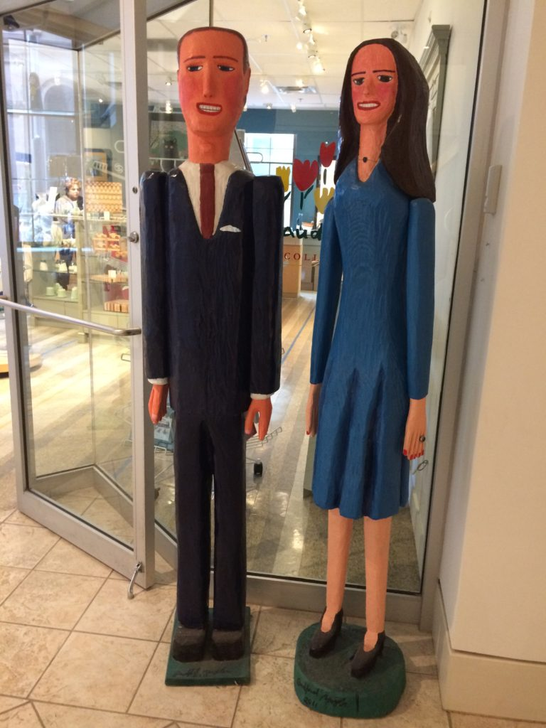 Andrew and Kate - folk art sculpture - Art Gallery of Nova Scotia