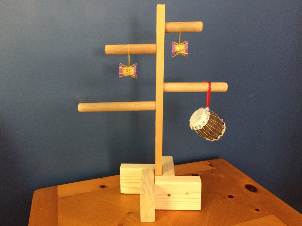 Ornament Tree from Recycled Taiko Bachi (Drum Sticks)