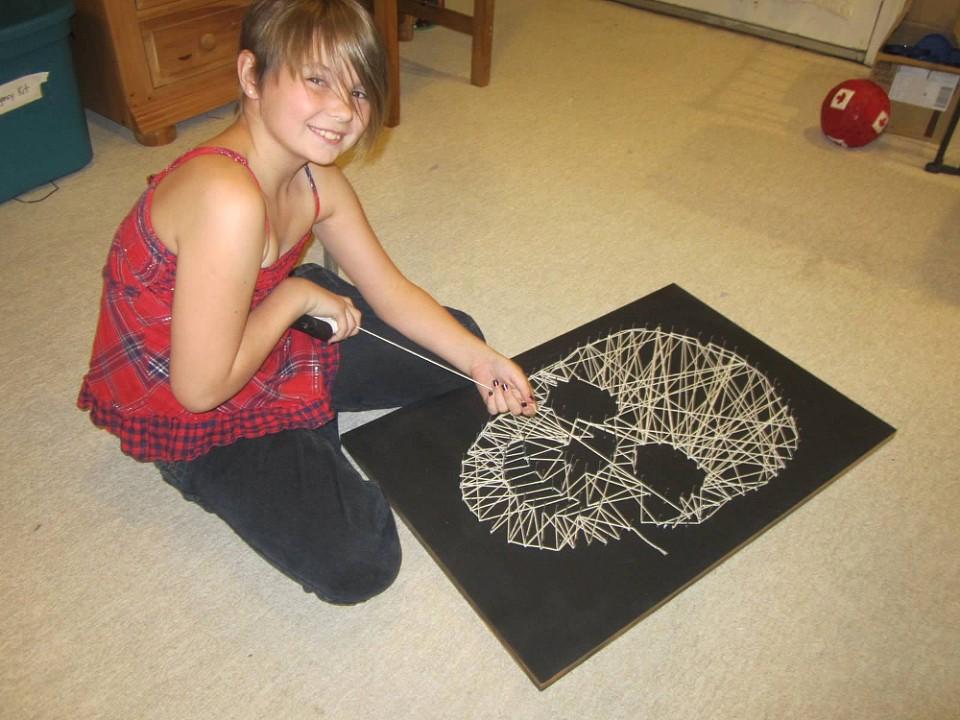 Skeleton Nail and String Art