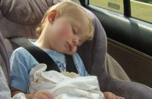 Baby sleeping in car seat