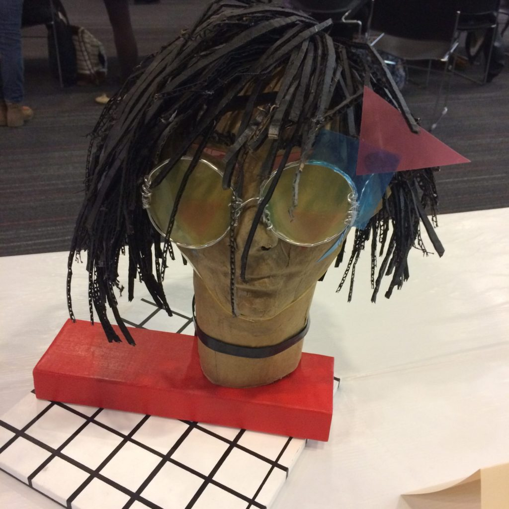 Gus (Recycled Art Portrait) by Colleen Avila, Linganore High School