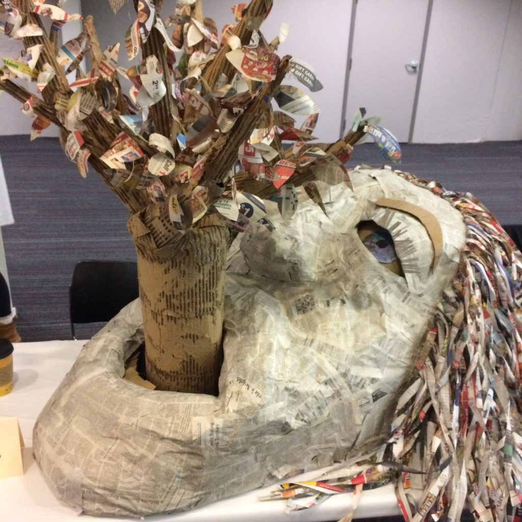 Recycled Art by Cindy Ceroll of Franklin High School
