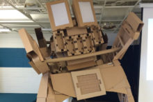 Cardboard Monster at the Kid Museum