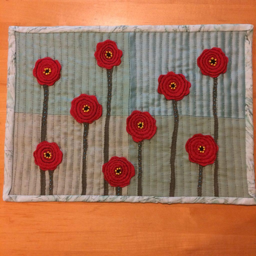 Poppy Quilt for Remembrance Day, November 2017