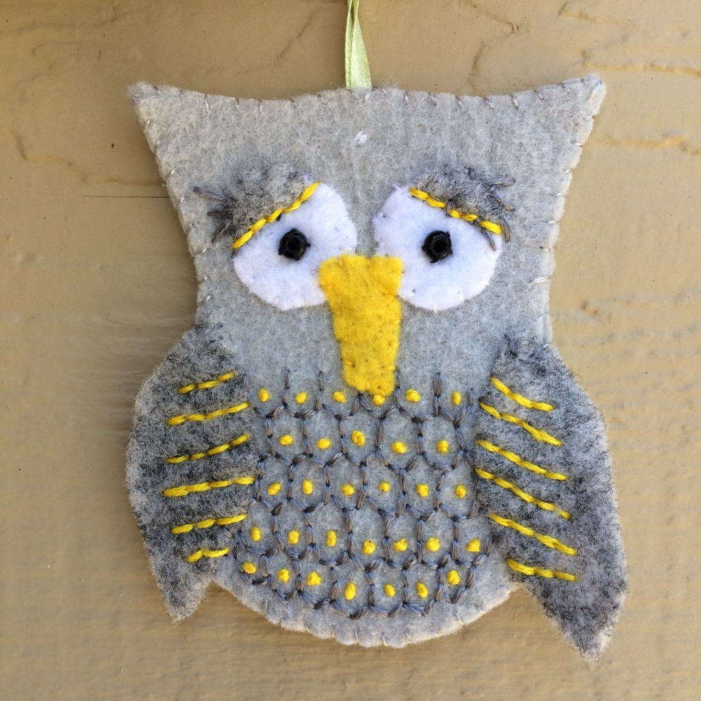 Sleepy owl ornament, April 2018