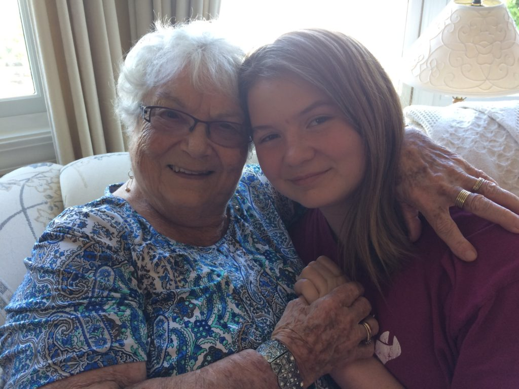 My grandmother Rea and my daughter, Nora - June 2017