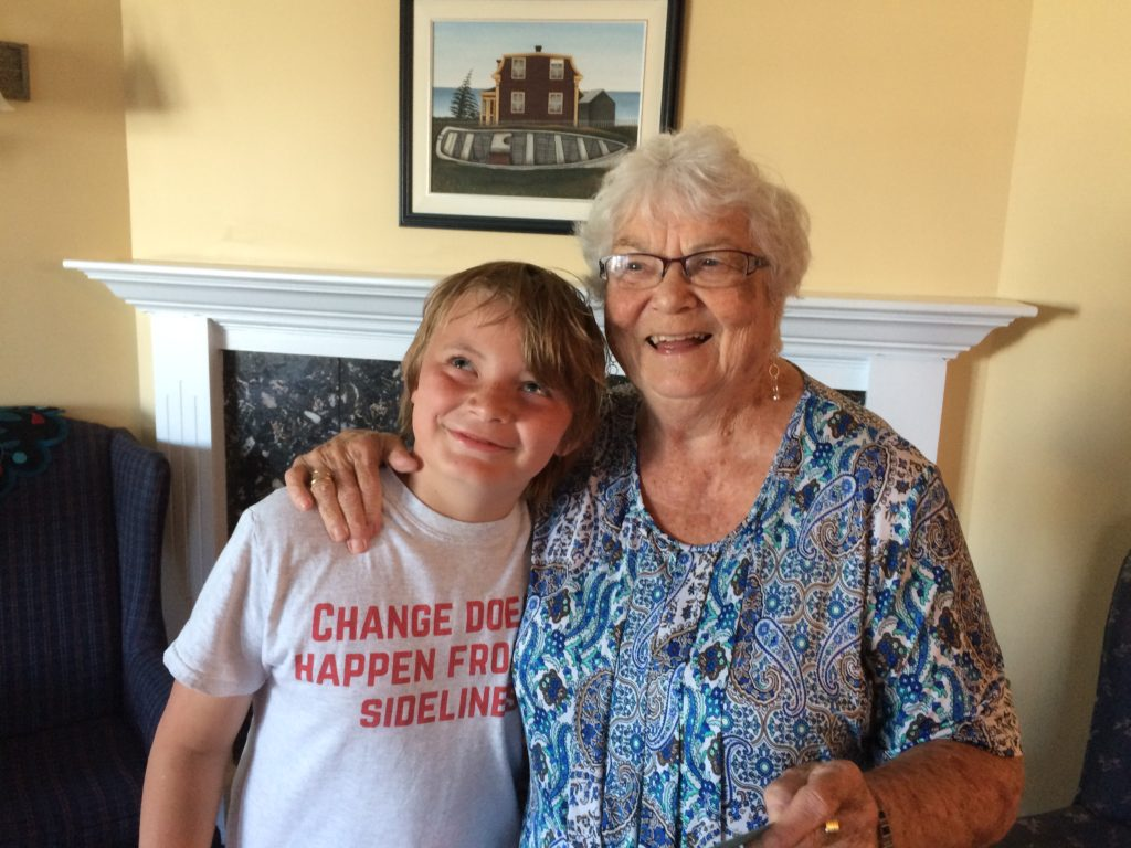 My son Russell and my grandmother Rea, June 2017