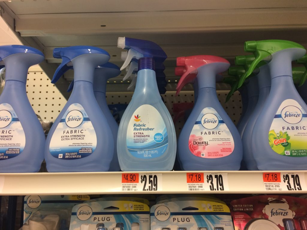 Febreze and similar plastic bottles
