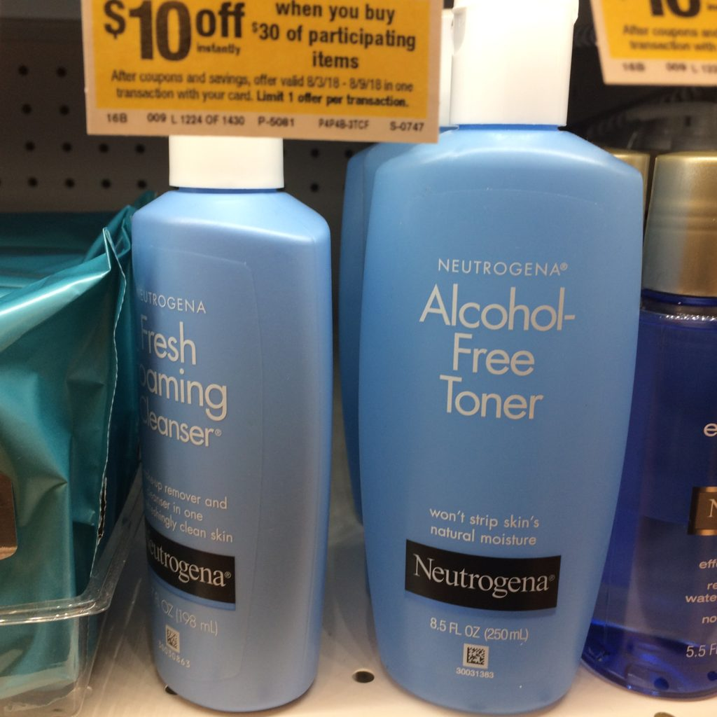 Neutrogena blue bottles
