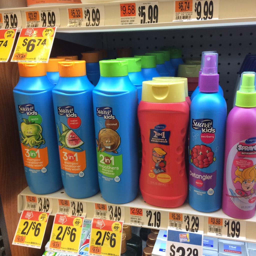 Suave Kids plastic bottles