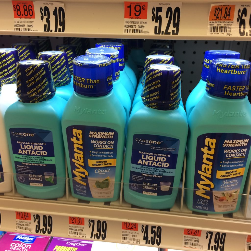 Mylanta and similar plastic bottles