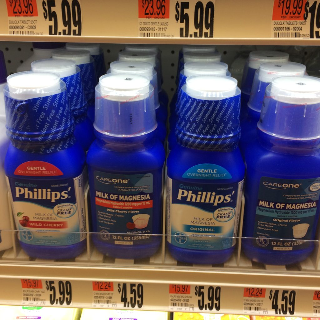 Phillips and other Milk of Magnesia bottles