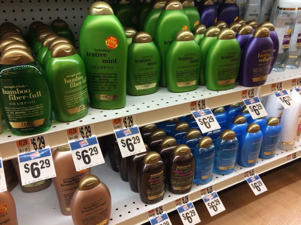 OGX shampoo bottles
