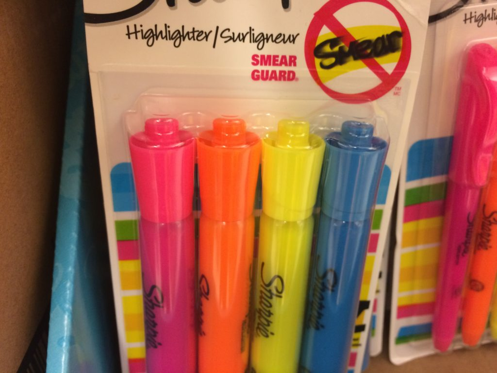 Lids from defunct markers and highlighters