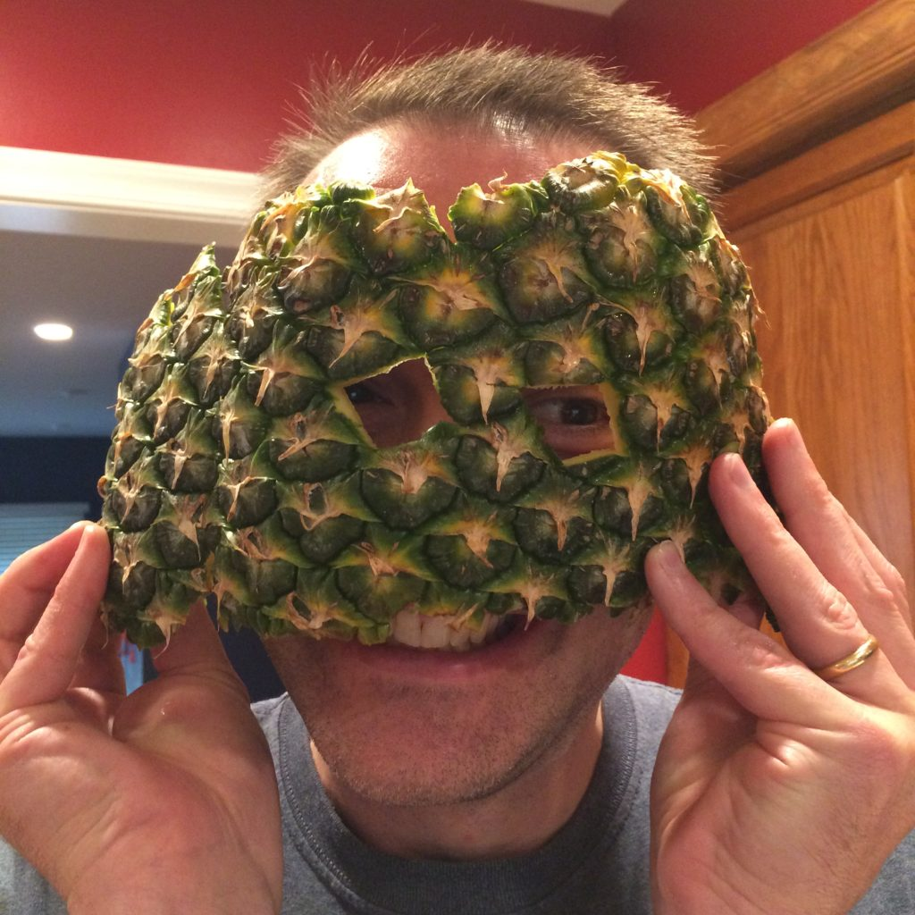 Pineapple peel mask by Trashmagination